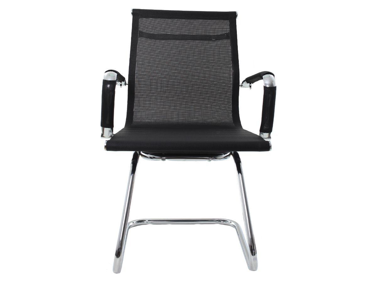 Cadeira De Escritório Fixa Interlocutor Mesh Preto