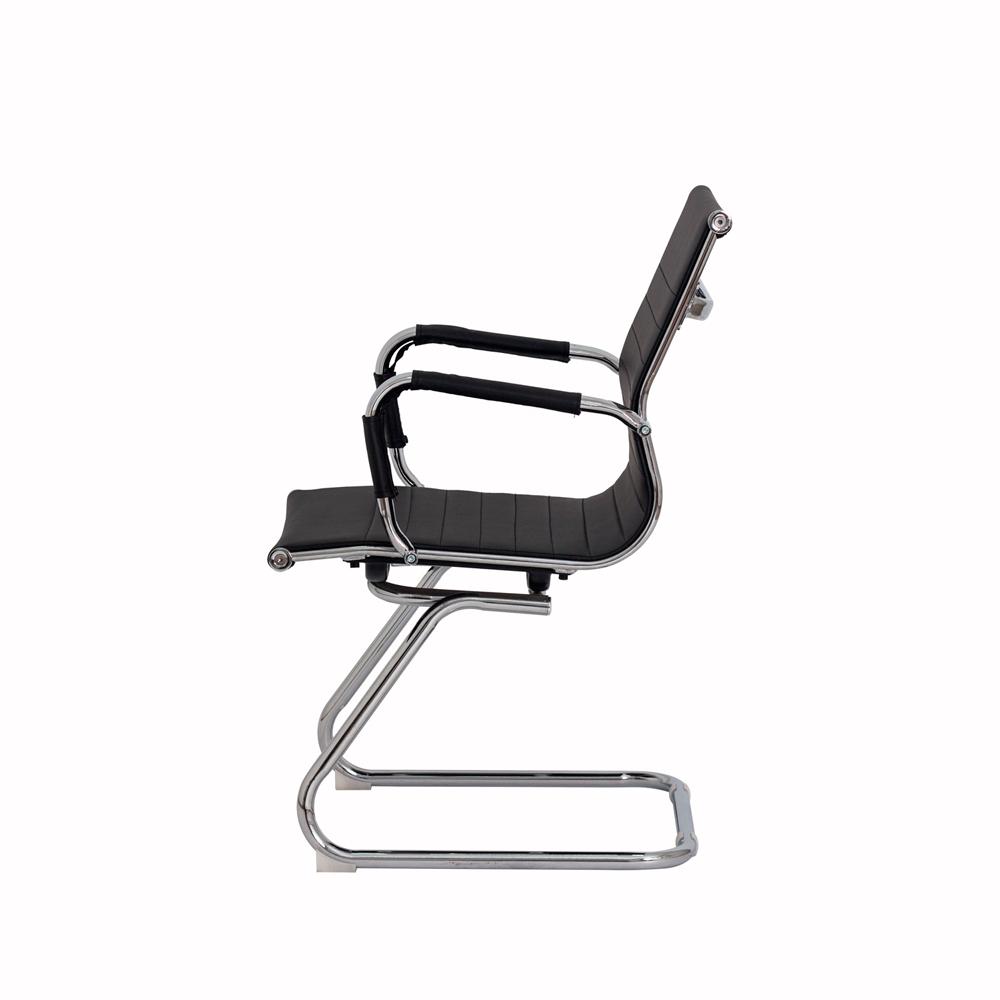 Cadeira De Escritório Fixa Interlocutor Stripes Preto