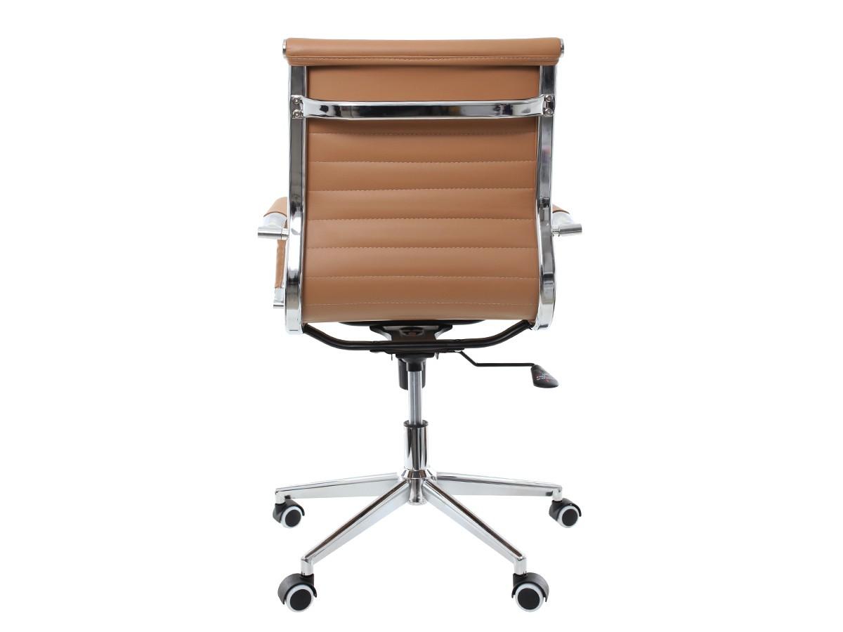 Cadeira De Escritório Giratória Diretor Stripes Esteirinha Caramelo