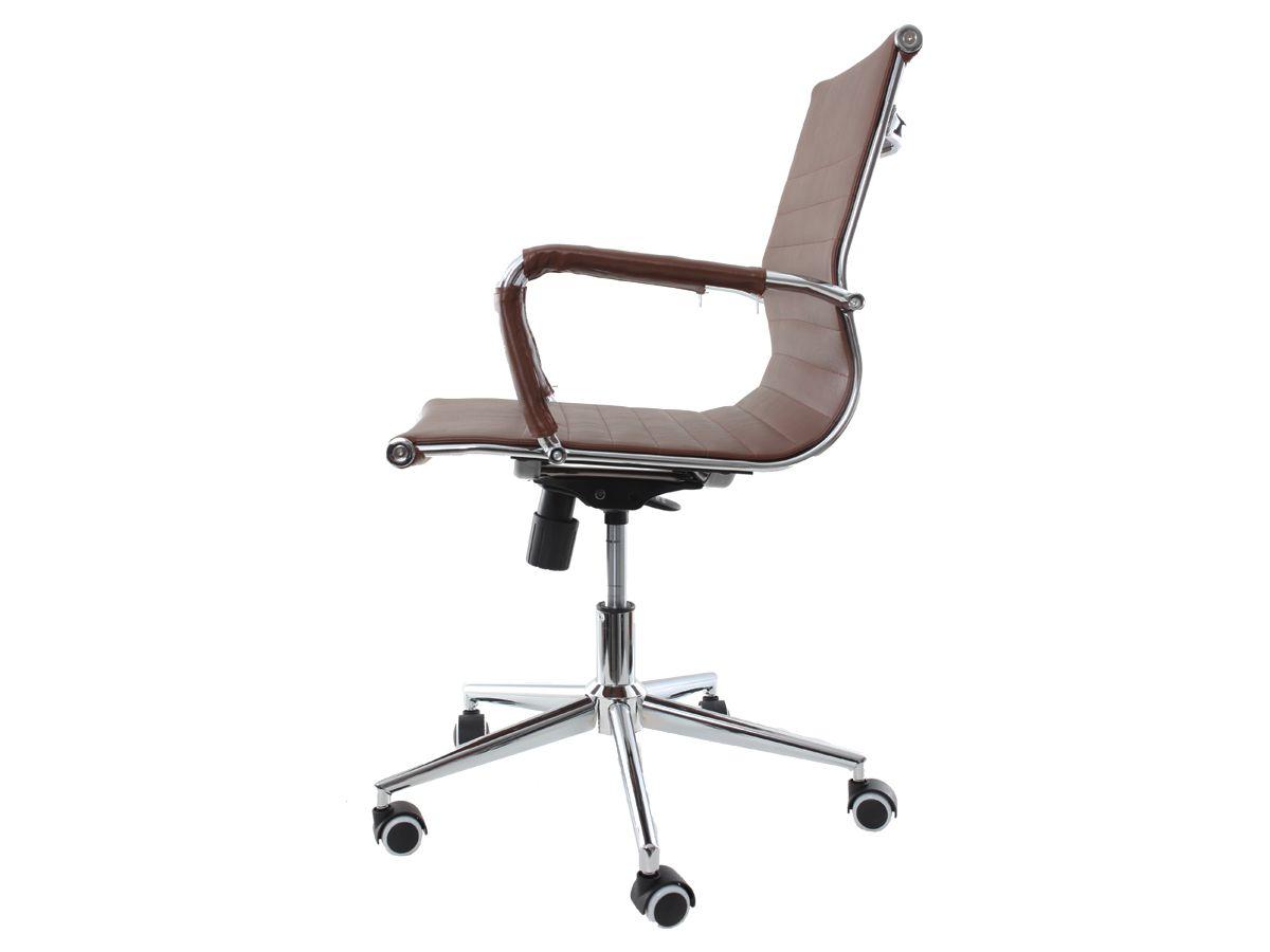 Cadeira De Escritório Giratória Diretor Stripes Esteirinha Marrom