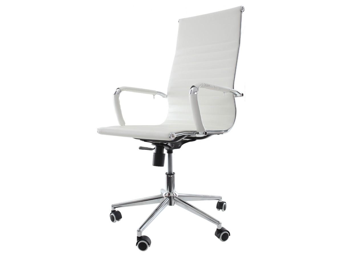 Cadeira De Escritório Giratória Presidente Stripes Esteirinha Branco
