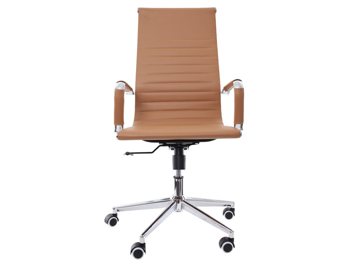 Cadeira De Escritório Giratória Presidente Stripes Esteirinha Caramelo