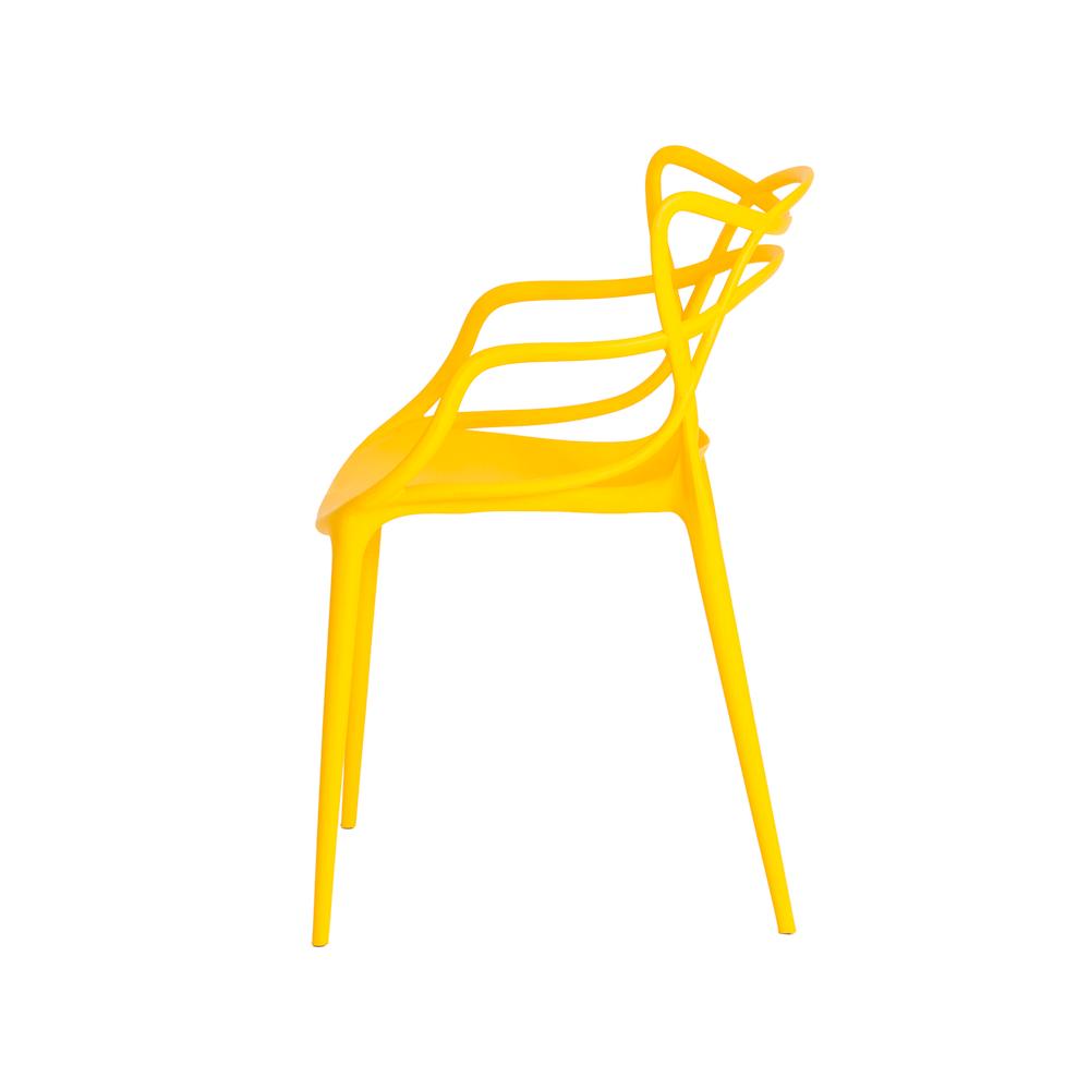 Cadeira De Jantar Allegra Master Amarelo Com Inmetro