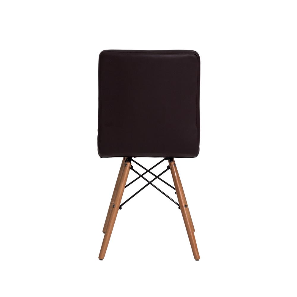 Cadeira De Jantar Charles Eames Gomos Marrom Café Com Base De Madeira