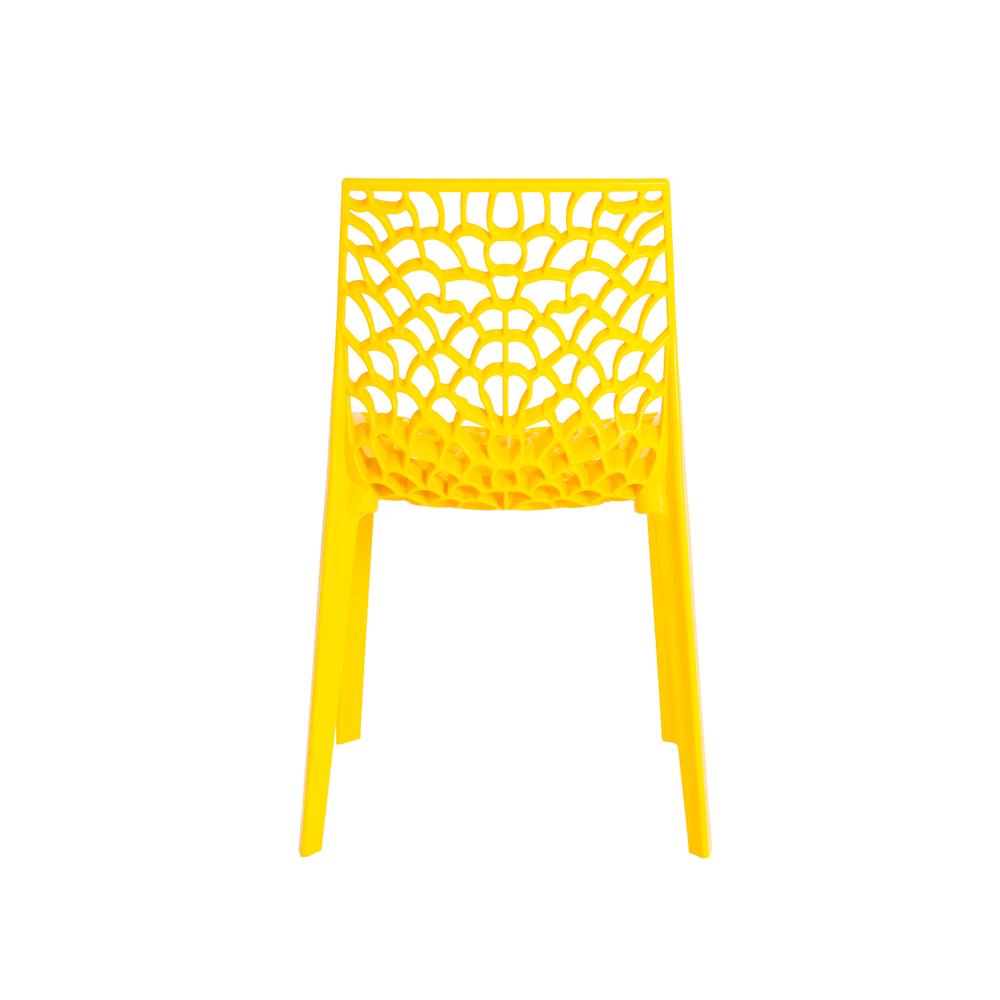 Cadeira De Jantar Gruvyer Design Amarelo Com Inmetro