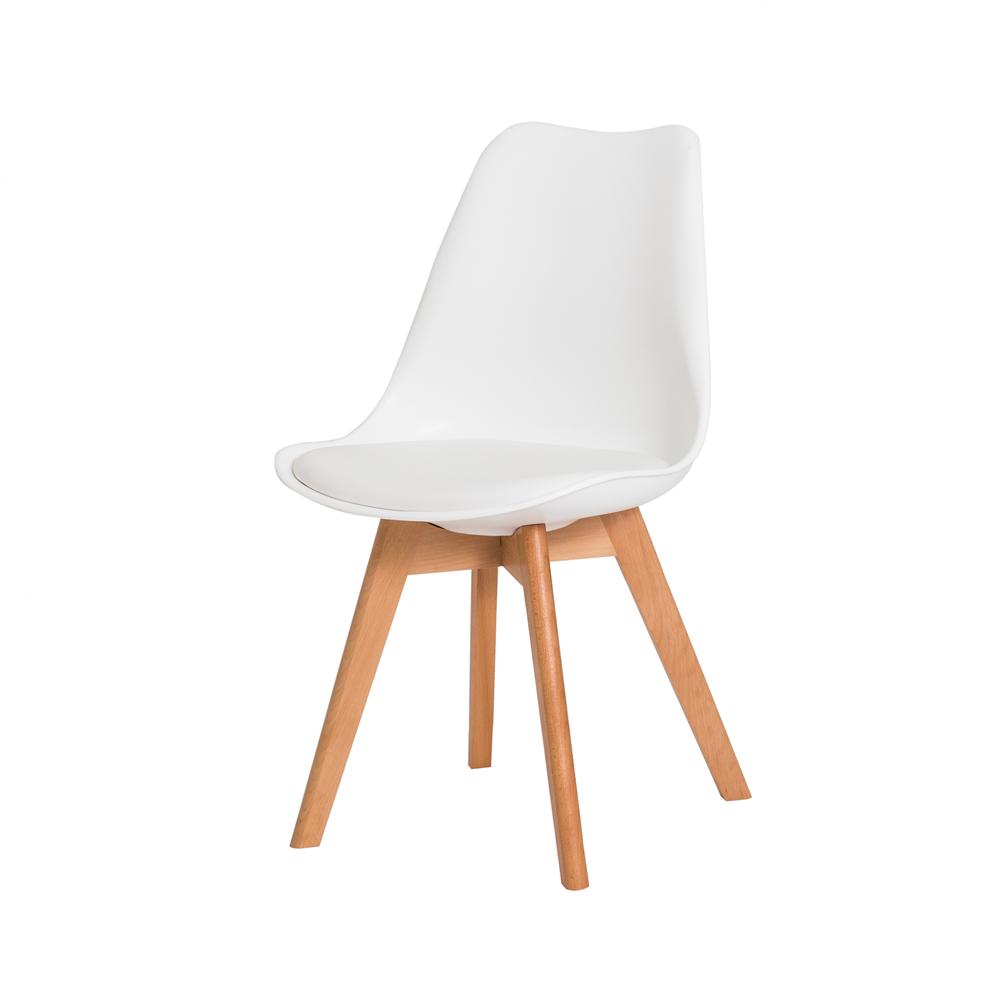 Cadeira De Jantar Saarinen Leda Design Branca