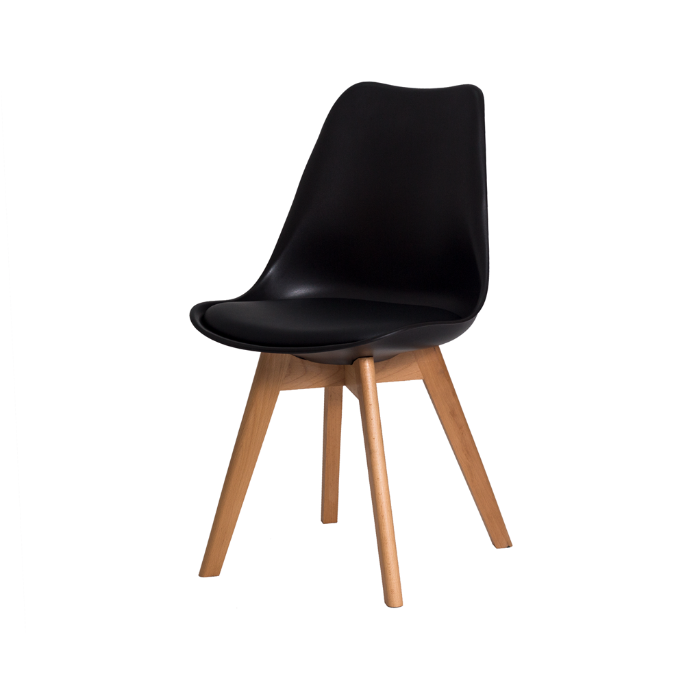 Cadeira De Jantar Saarinen Leda Design Preta