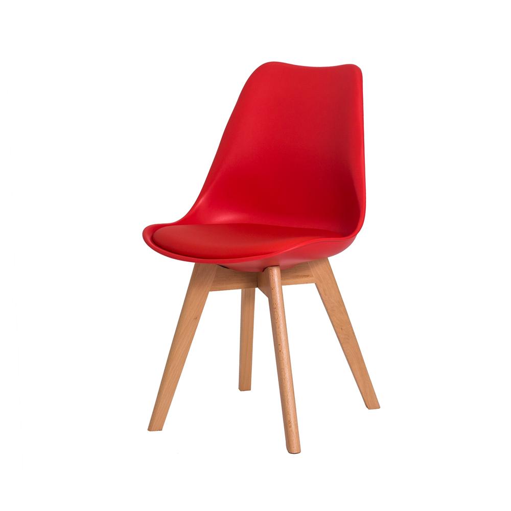 Cadeira De Jantar Saarinen Leda Design Vermelha