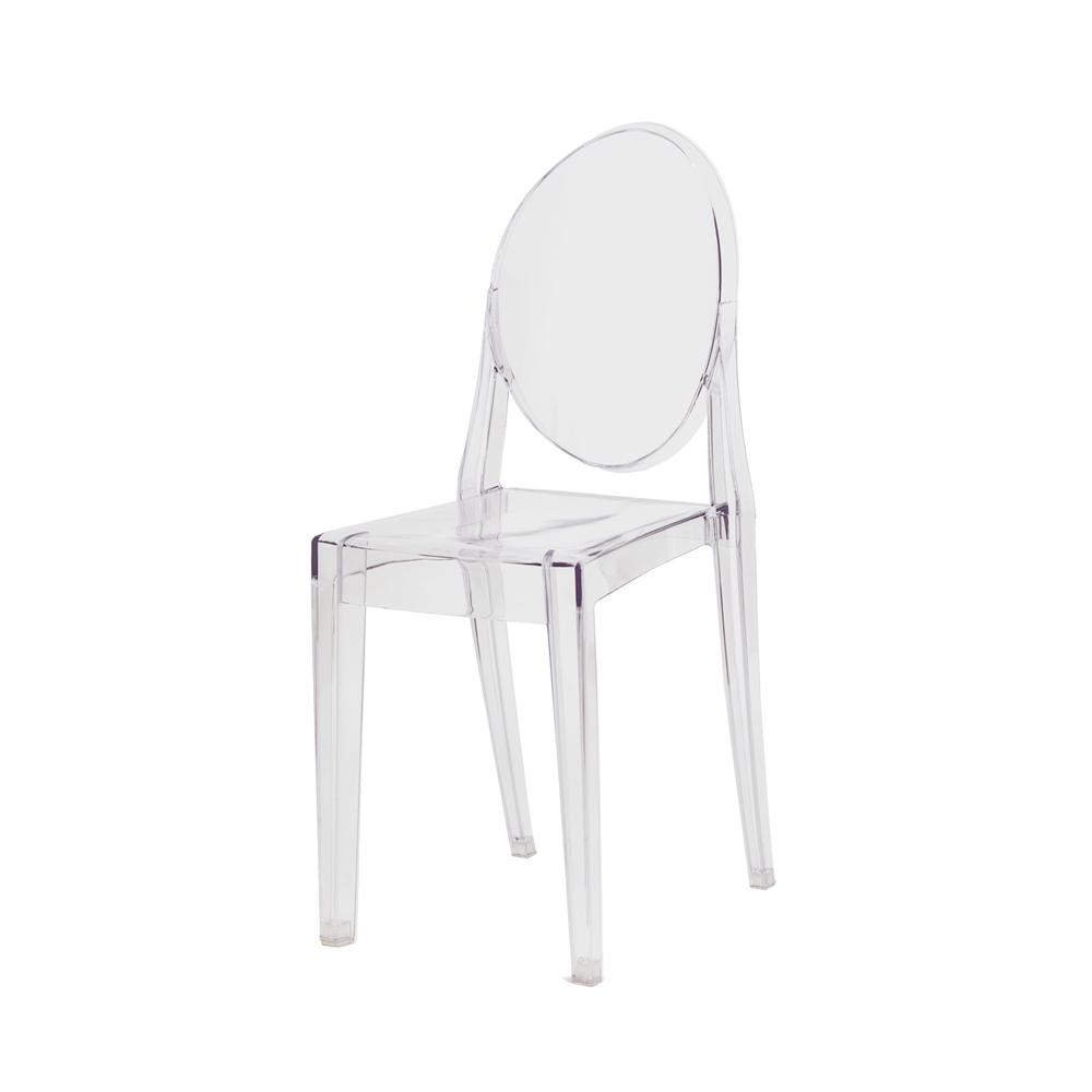 Cadeira De Jantar Miss Sofia Victoria Ghost Sem Braço Transparente