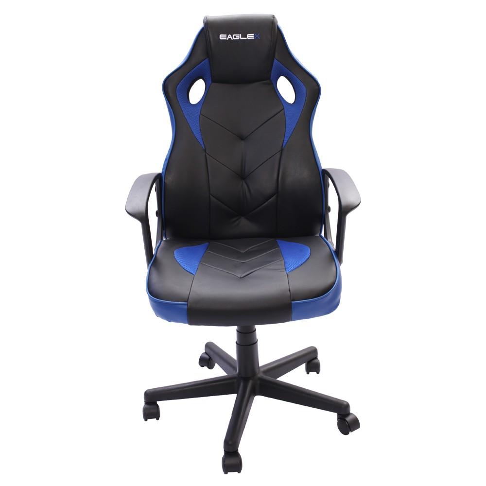 Cadeira Gamer S1 Barata Giratória com Ajuste de Altura Office Setup Game Eaglex Cor Azul
