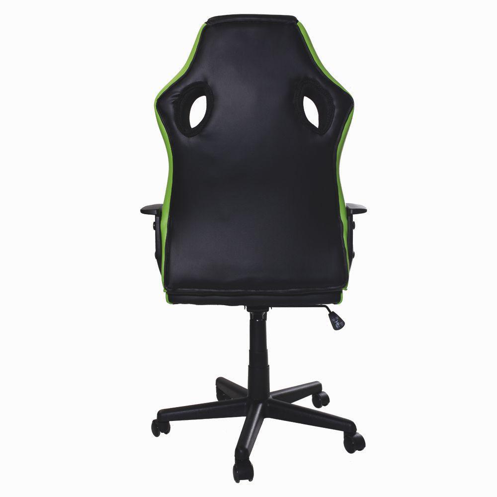 Cadeira Gamer S1 Barata Giratória com Ajuste de Altura Office Setup Game Eaglex Cor Verde