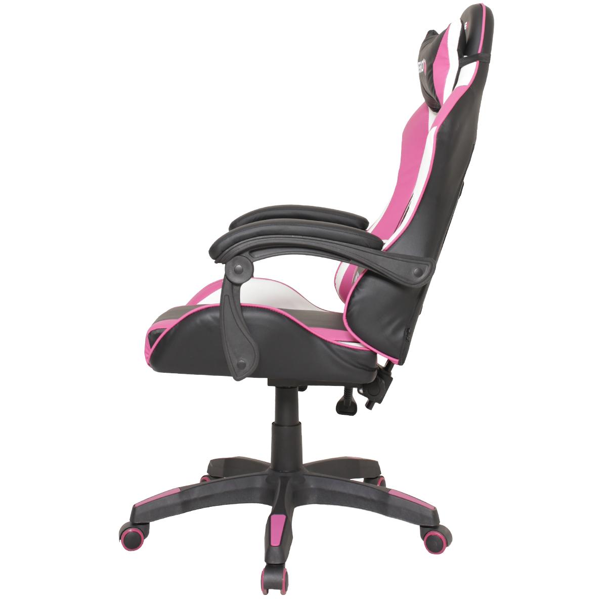 Cadeira Gamer EagleX Hero Rosa Com Regulagem De Encosto