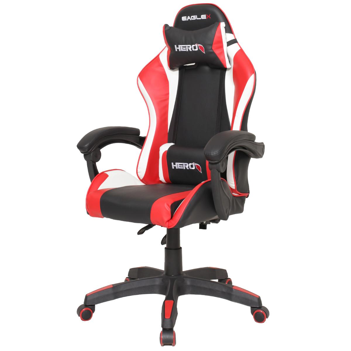 Cadeira Gamer EagleX Hero Vermelha Com Regulagem De Encosto