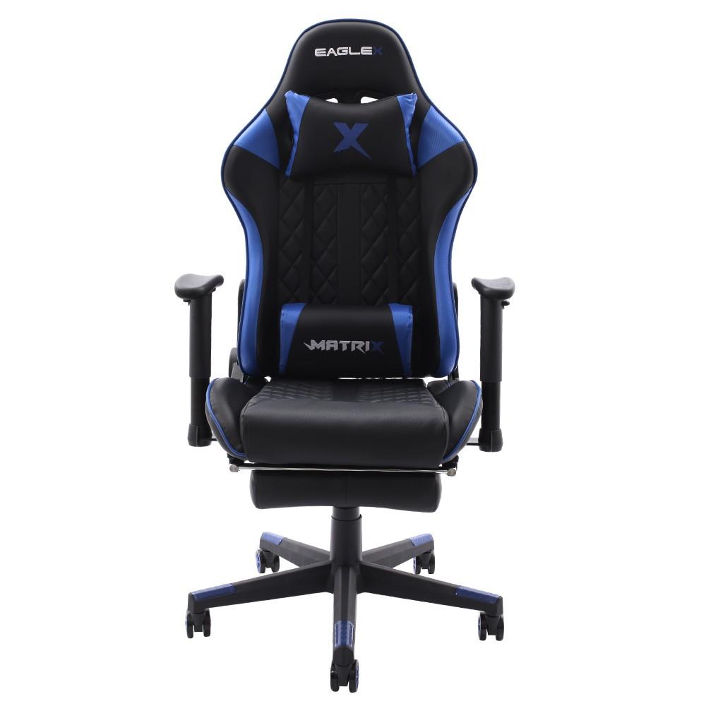 Cadeira Gamer EagleX Matrix Azul Com Apoio De Pé