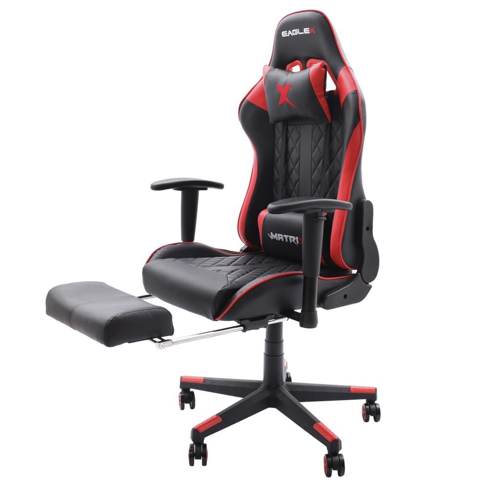 Cadeira Gamer EagleX Matrix Vermelha Com Apoio De Pé