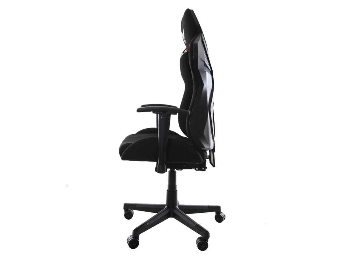 Cadeira Gamer Eaglex Reclinável Tela Mesh Giratória Com Ajuste de Altura e Braço 3D Profissional Setup Game Cor Preto