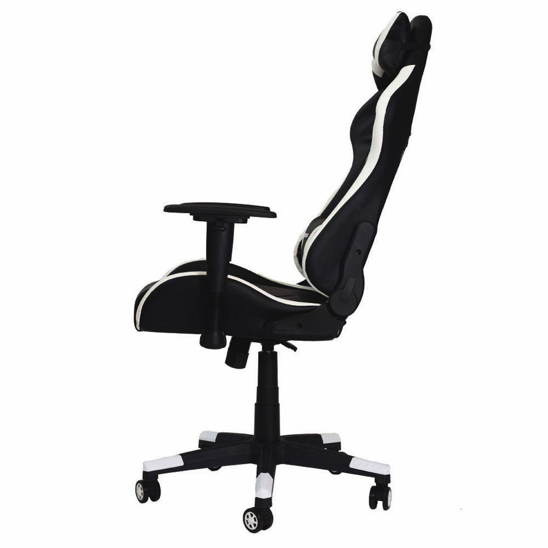Cadeira Gamer Pro Reclinável Giratória Com Ajuste de Altura e Braço 3D Profissional Setup Game Cor Branco