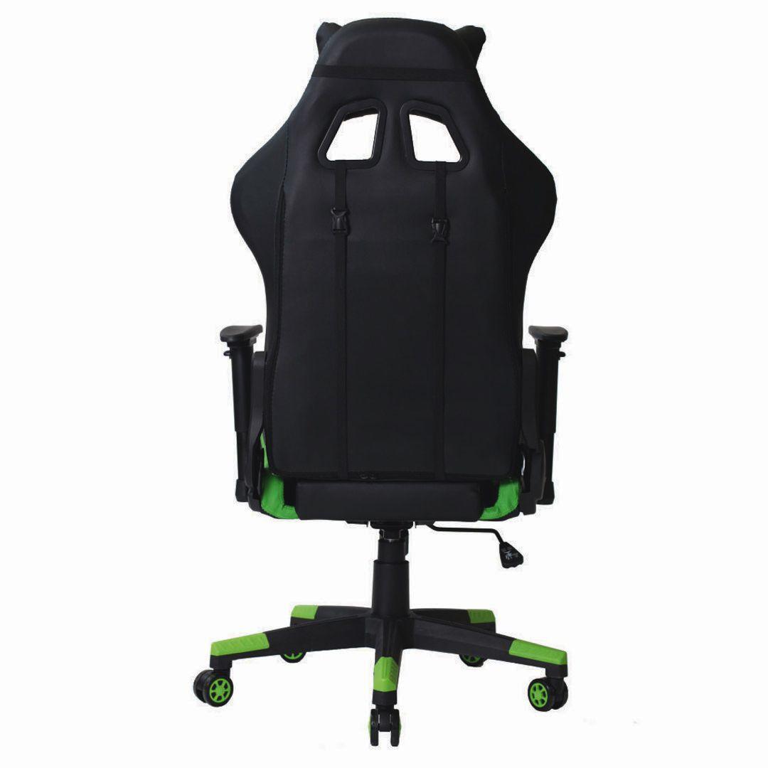 Cadeira Gamer Pro Reclinável Giratória Com Ajuste de Altura e Braço 3D Profissional Setup Game Cor Verde