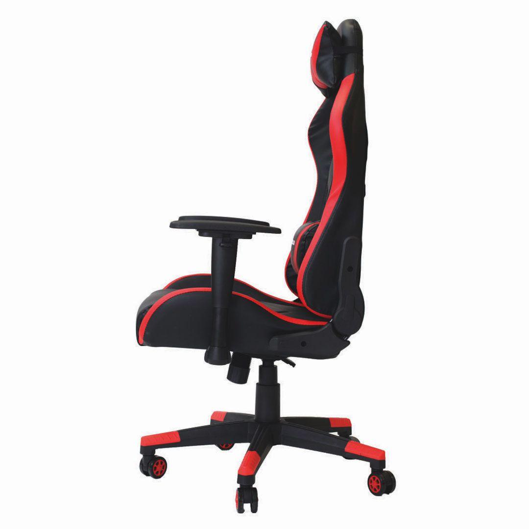 Cadeira Gamer Pro Reclinável Giratória Com Ajuste de Altura e Braço 3D Profissional Setup Game Cor Vermelha