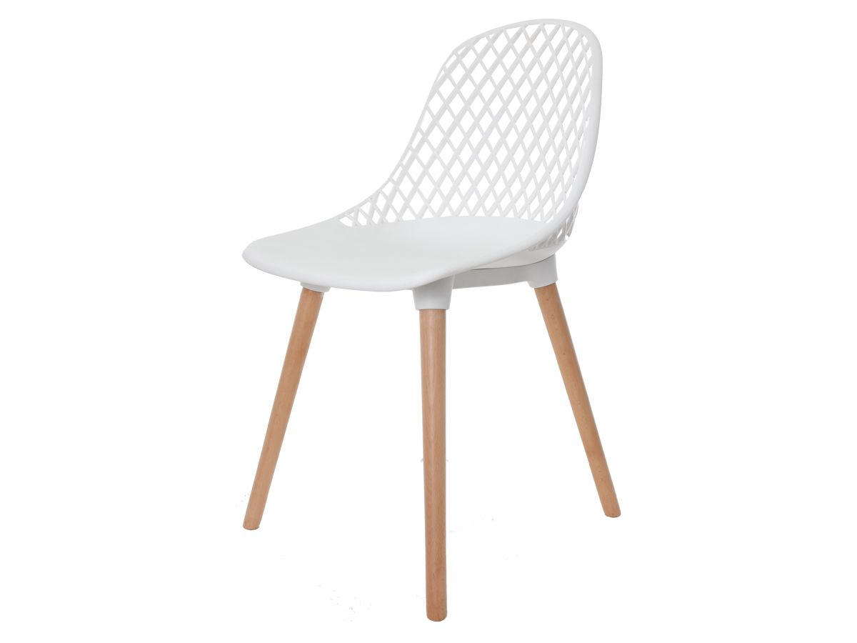 Cadeira Para Mesa Sala De Jantar Charles Eames Eiffel Vision Branca