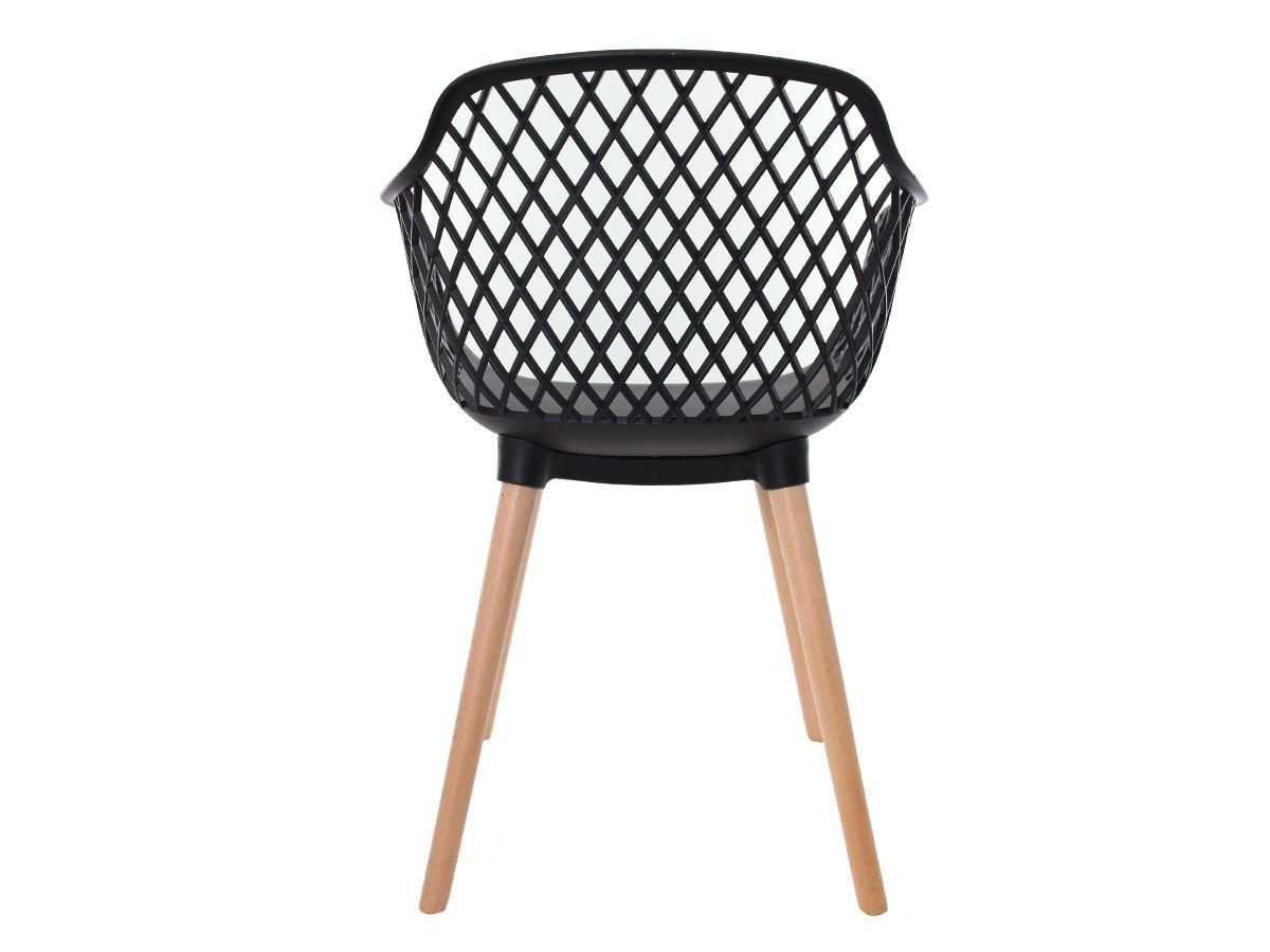 Cadeira Para Mesa Sala De Jantar Charles Eames Eiffel Vision Com Braço Preta