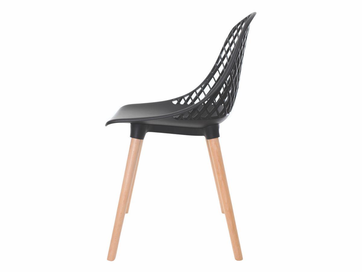 Cadeira Para Mesa Sala De Jantar Charles Eames Eiffel Vision Preta