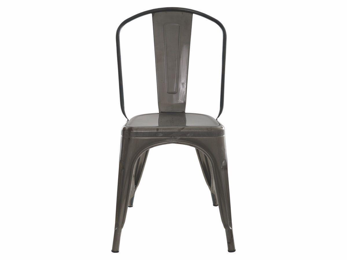 Cadeira Para Mesa Sala De Jantar Tolix Iron Industrial Metalizada Envelhecida