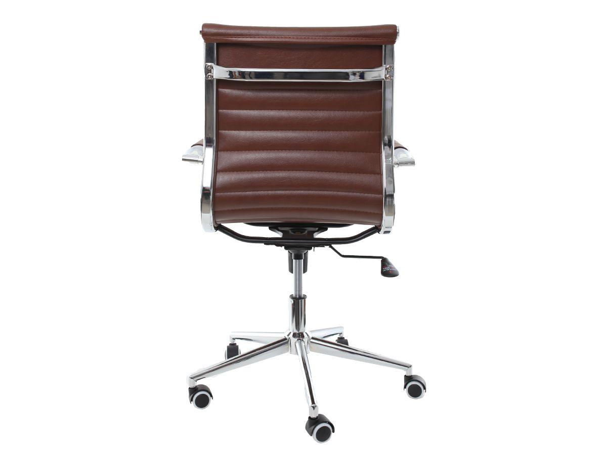 Kit 2 Cadeira De Escritório Giratória Diretor Charles Eames Eiffel Esteirinha Marrom