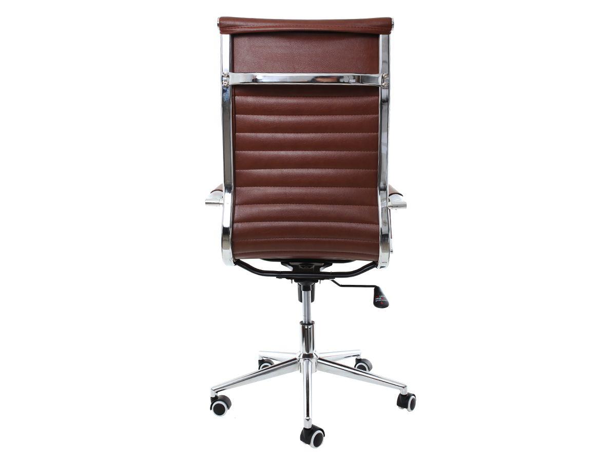 Kit 2 Cadeira De Escritório Giratória Presidente Charles Eames Eiffel Esteirinha Marrom