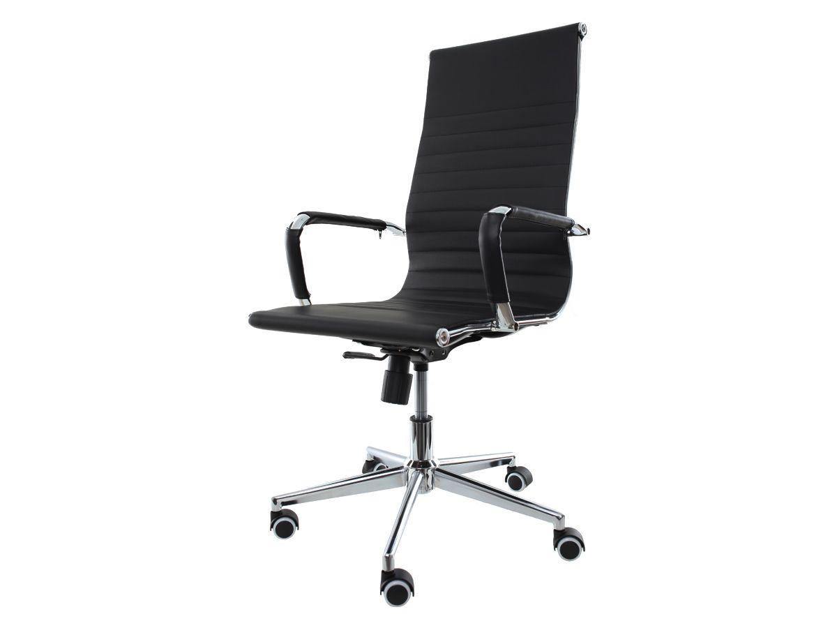 Kit 2 Cadeira De Escritório Giratória Presidente Charles Eames Eiffel Esteirinha Preto