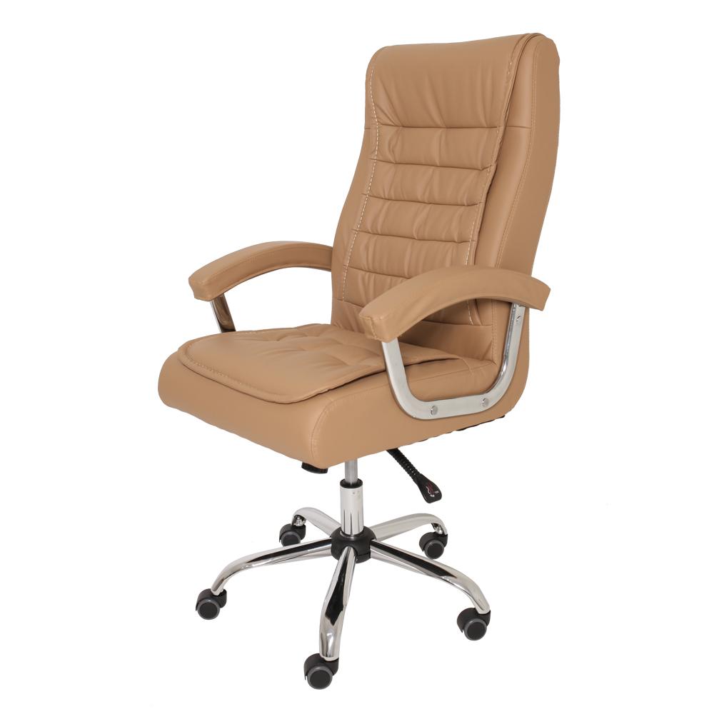 Kit 2 Cadeiras De Escritório Presidente Monique Big Caramelo