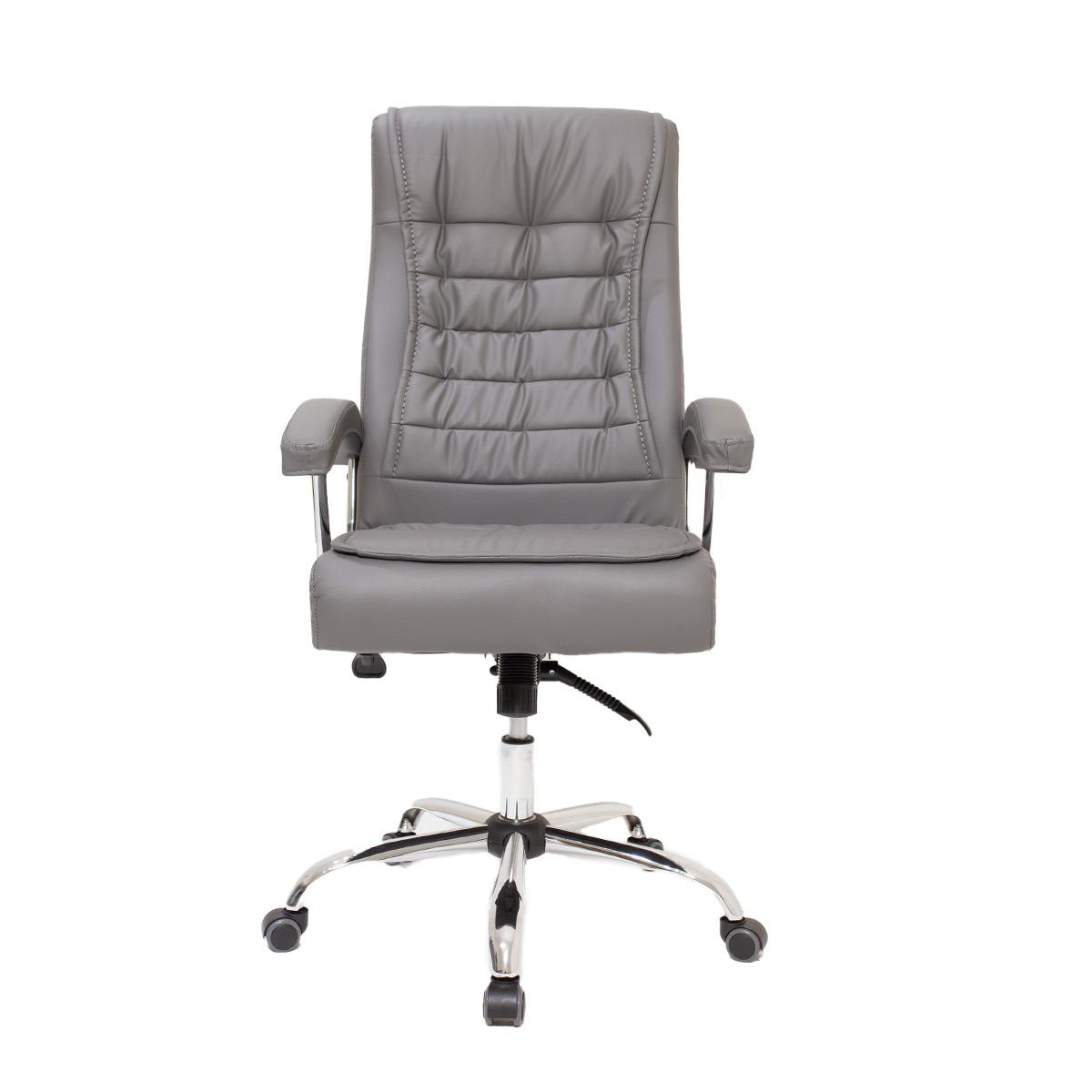 Kit 2 Cadeiras De Escritório Presidente Monique Big Cinza