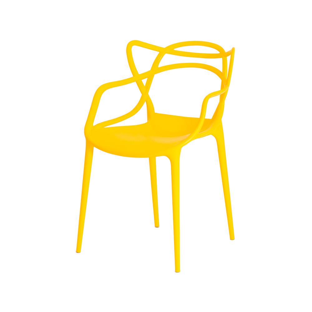 Kit 2 Cadeiras De Jantar Allegra Master Amarelo Com Inmetro