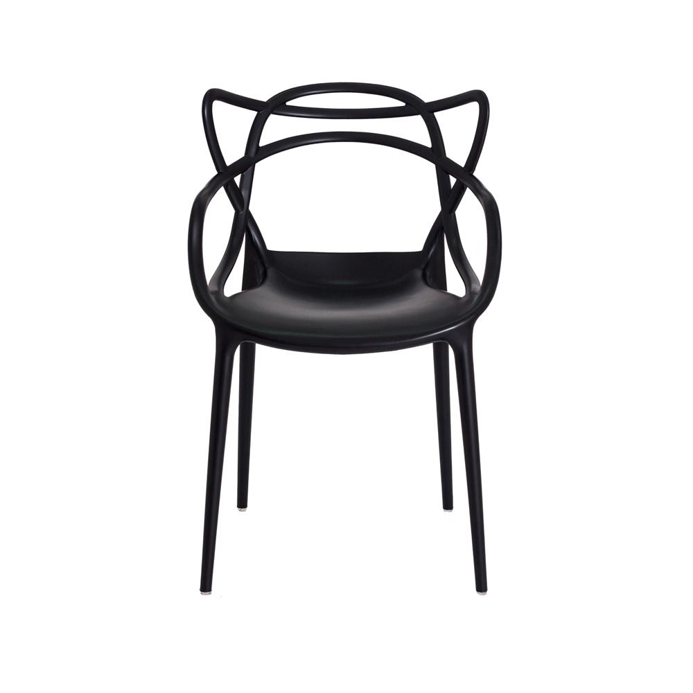 Kit 2 Cadeiras De Jantar Allegra Master Preto Com Inmetro