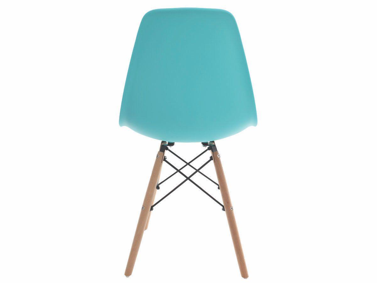 Kit 2 Cadeiras De Jantar Charles Eames Eiffel Tiffany Com Base De Madeira