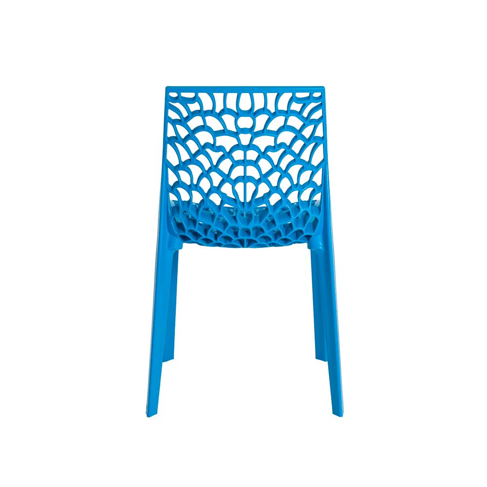 Kit 2 Cadeiras De Jantar Gruvyer Design Azul Com Inmetro