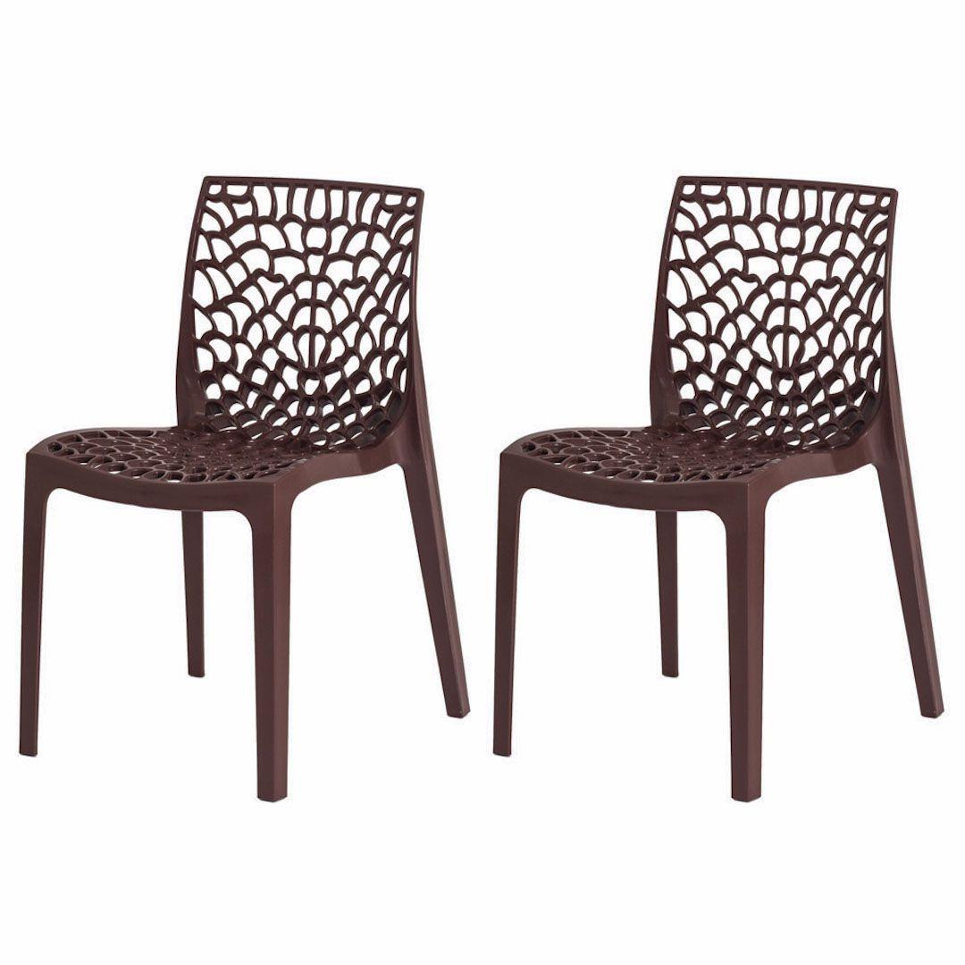 Kit 2 Cadeiras De Jantar Gruvyer Design Marrom Com Inmetro