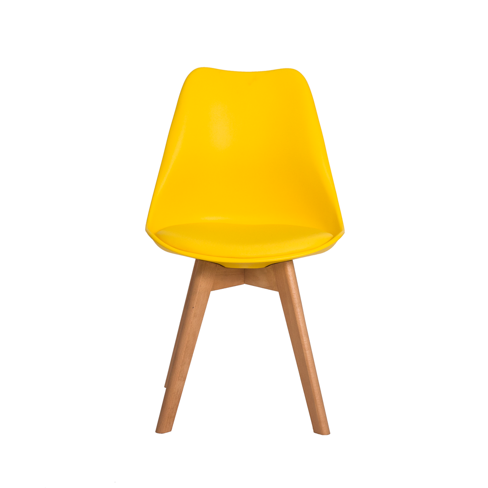 Kit 2 Cadeiras De Jantar Saarinen Leda Design Amarela
