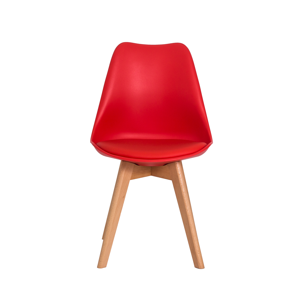 Kit 2 Cadeiras De Jantar Saarinen Leda Design Vermelha