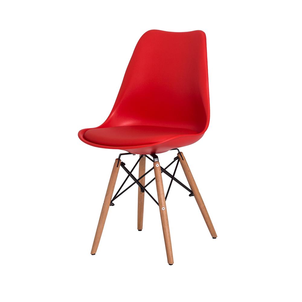 Kit 2 Cadeiras De Jantar Saarinen Torre Vermelha