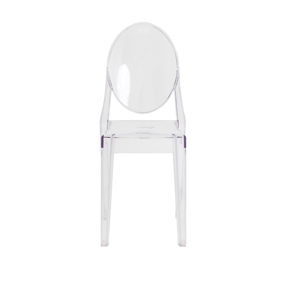 Kit 2 Cadeiras De Jantar Miss Sofia Victoria Ghost Sem Braço Transparente