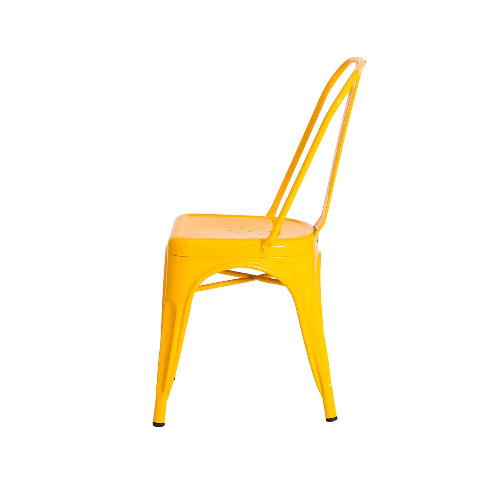 Kit 2 Cadeiras De Jantar Tolix Iron Industrial Amarela