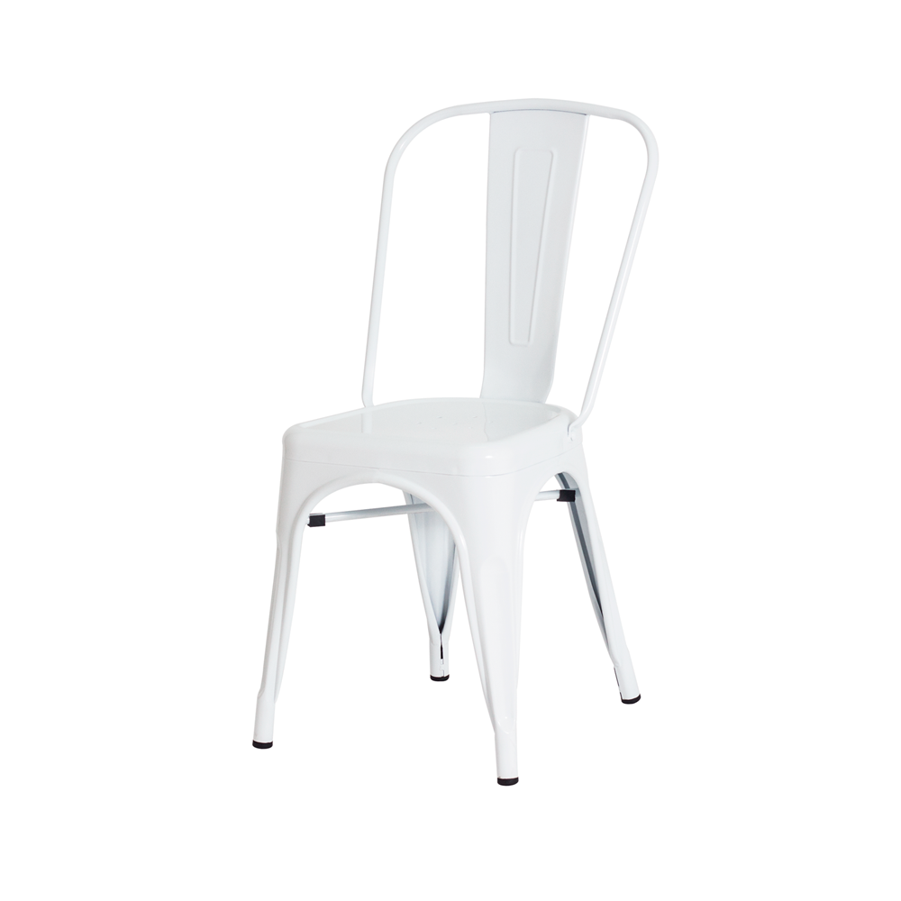 Kit 2 Cadeiras De Jantar Tolix Iron Industrial Branca