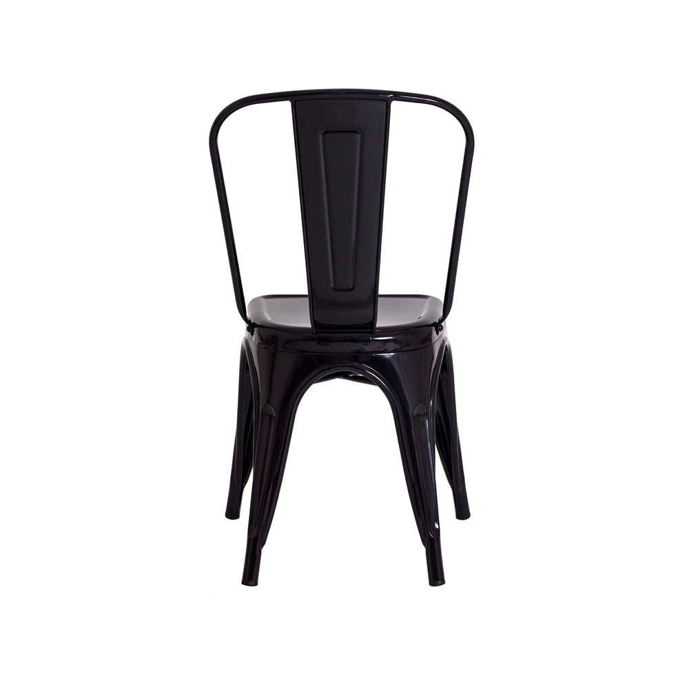 Kit 2 Cadeiras De Jantar Tolix Iron Industrial Preta