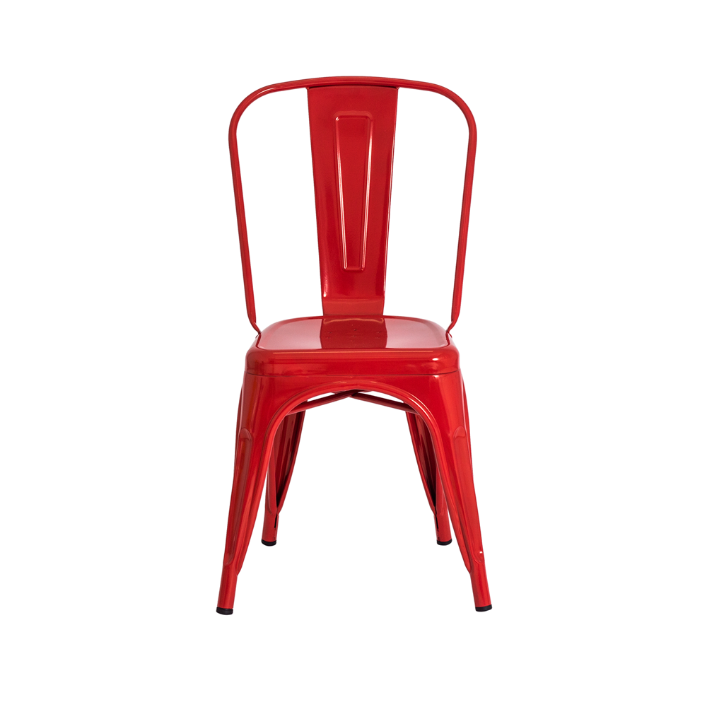 Kit 2 Cadeiras De Jantar Tolix Iron Industrial Vermelha
