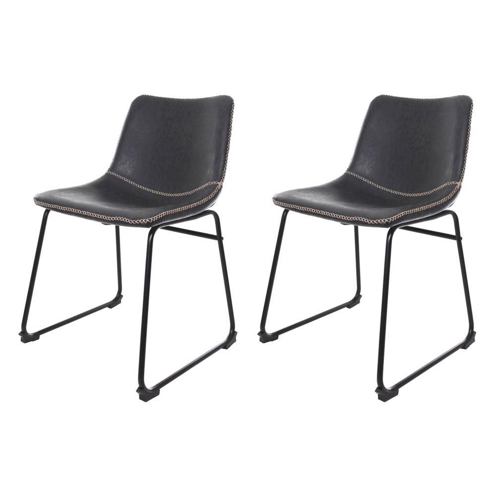 Kit 2 Cadeiras Munich Bruna Preta