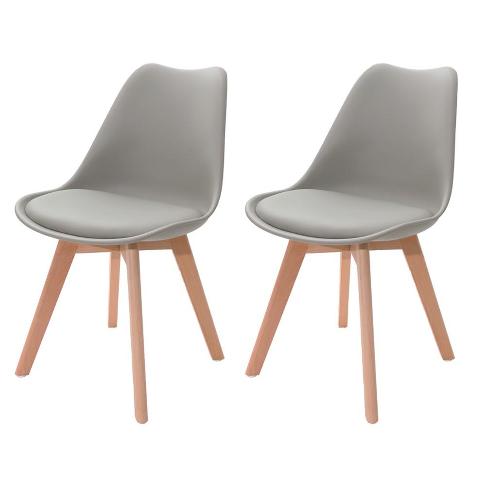 Kit 2 Cadeiras Saarinen Design Leda Cinza