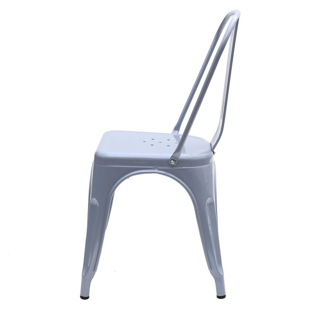 Kit 3 Cadeira Tolix Iron Industrial Cinza