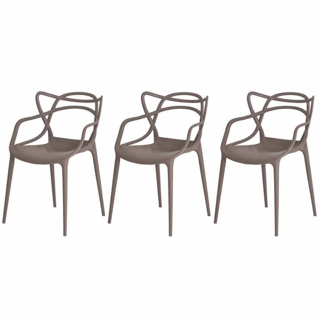Kit 3 Cadeiras De Jantar Allegra Master Fendi Com Inmetro
