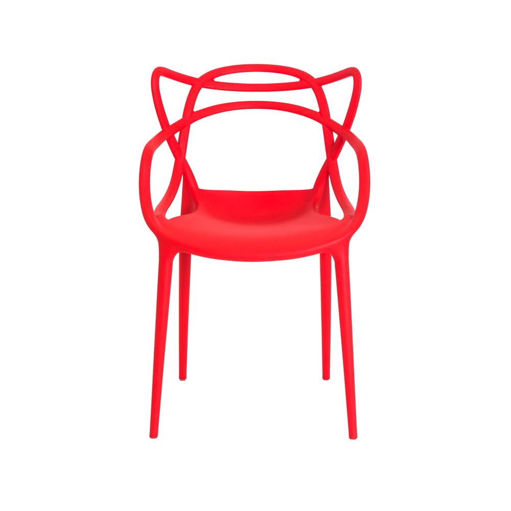 Kit 3 Cadeiras De Jantar Allegra Master Vermelho Com Inmetro